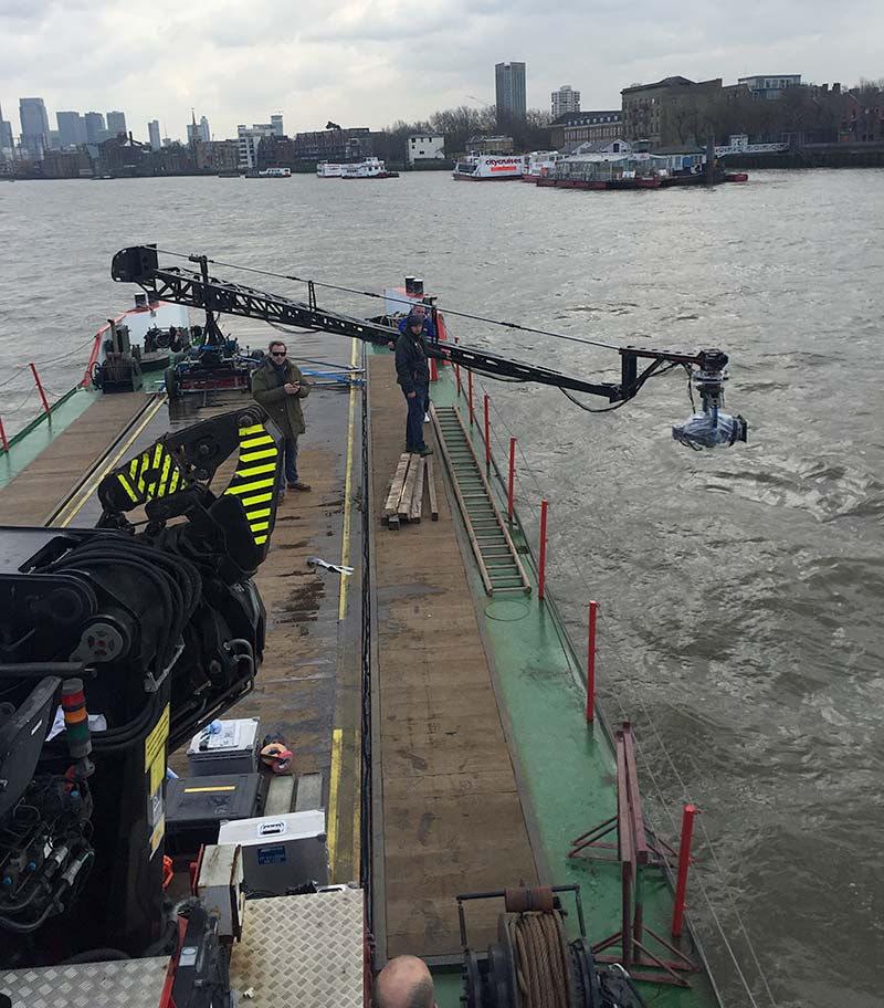 river thames filming wonder woman scheldemond livett's