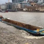 christian tug barge b80 tower bridge