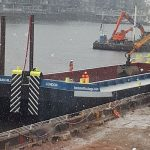 livett's bennett's barges barge churchill thames tideway tunnel carnwath road