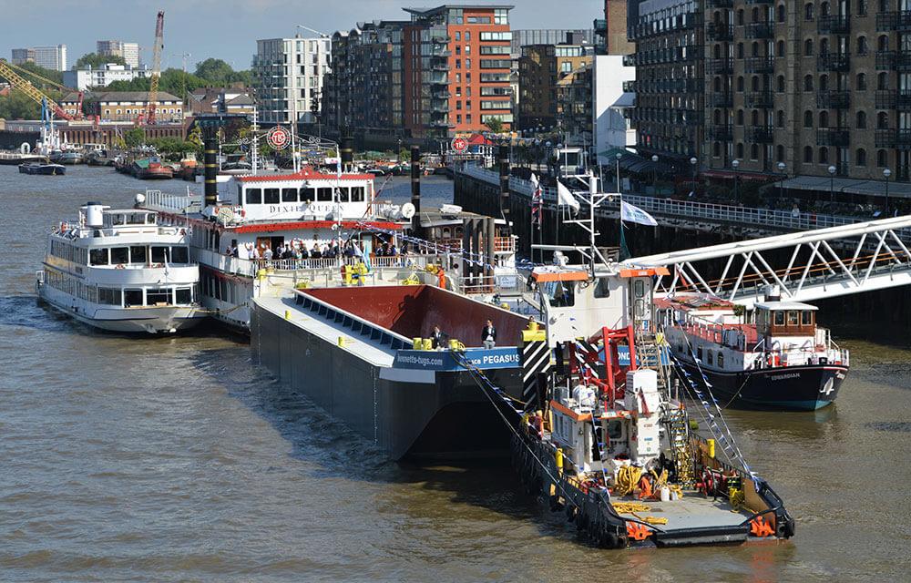 bennett's barges tideway class event pegasus butler's wharf pier