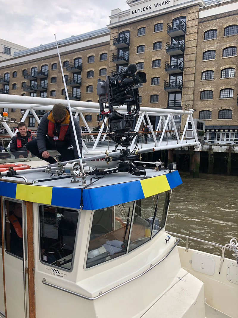 livetts river thames filming equity camera boat