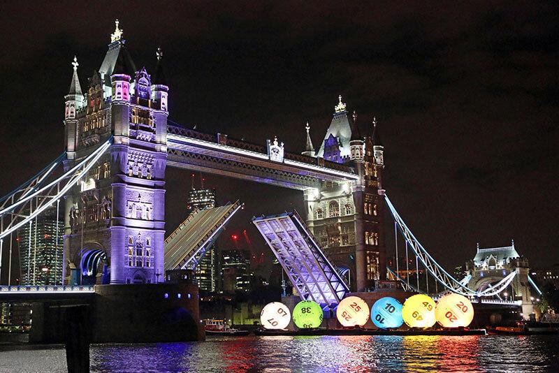 national lottery lotto balls tower bridge livett's