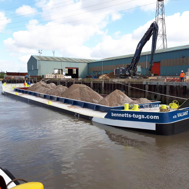 valiant barge full bennett's barges