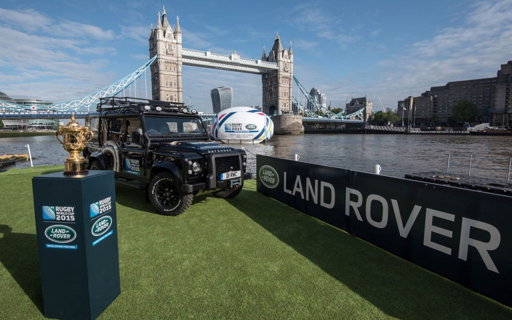 land rover rugby world cup tower bridge