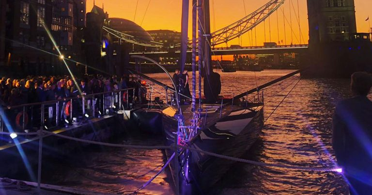 hugo boss yacht butler's wharf pier