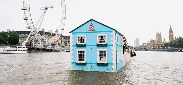 airbnb floating house river thames
